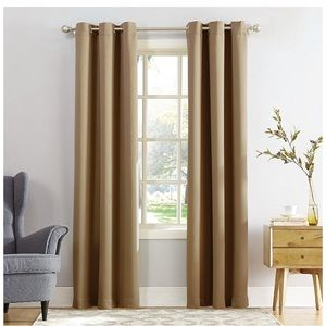 """Taupe 84""""inch curtain (2) panels- good condition!"""